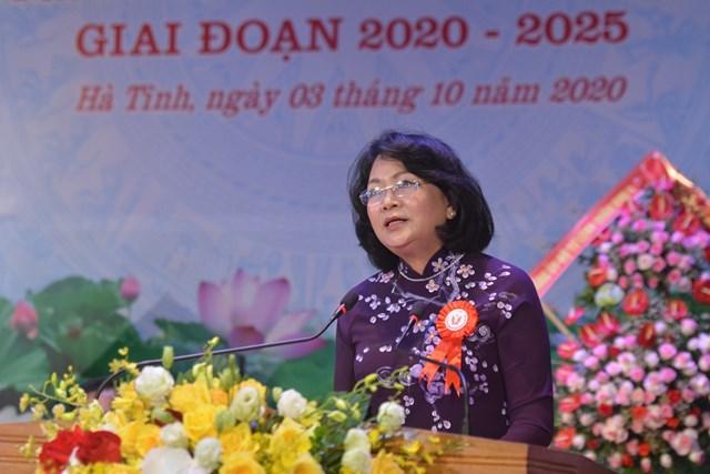 Phó Chủ tịch nước Đặng Thị Ngọc Thịnh phát biểu chỉ đạo Đại hội.