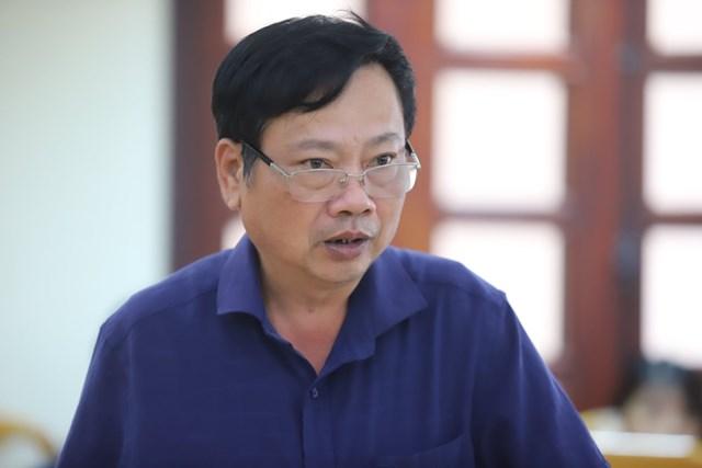 Ông Nguyễn Văn Tâm, Phó giám đốc phụ trách Công ty TNHH MTV Thủy lợi Nam Hà Tĩnh.
