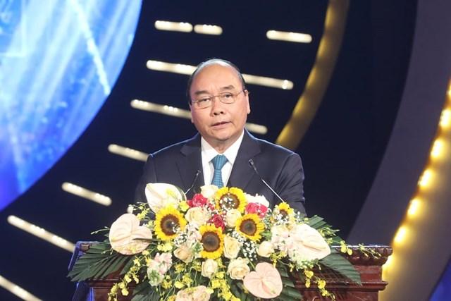 Thủ tướng Chính phủ Nguyễn Xuân Phúc phát biểu tại Lễ trao giải.