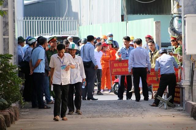 Lực lượng chức năng tiếp tục ra quân cưỡng chế công trình Gia Trang Quán.