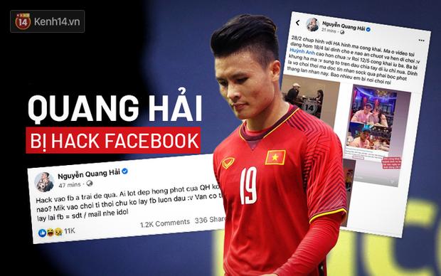 """Quang Hải với """"vấn nạn"""" hack Facebook."""
