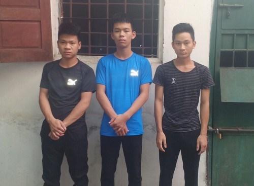3 thanh niên là thủ phạm vụ trộm trâu. Ảnh Báo Nghệ An