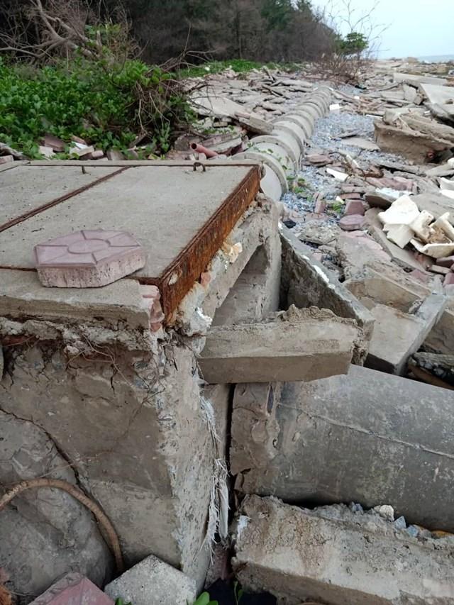 Nam Định: Kè biển bị sập tan hoang  - Ảnh 2