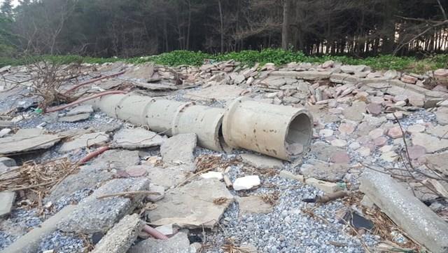 Nam Định: Kè biển bị sập tan hoang  - Ảnh 5