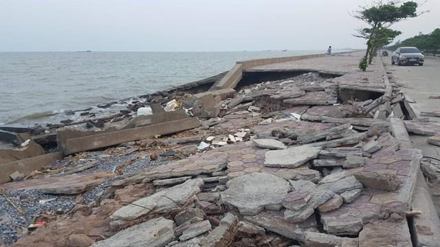 Nam Định: Kè biển bị sập tan hoang  - Ảnh 4