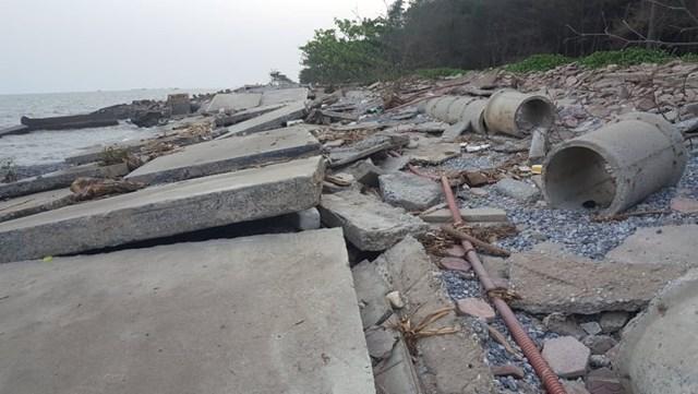 Nam Định: Kè biển bị sập tan hoang  - Ảnh 3