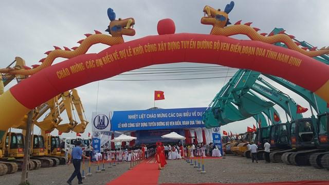 Trước thềm đại hội, Nam Định khởi công tuyến đường bộ ven biển dài gần 66 km, tổng kinh phí gần 2.700 tỷ đồng