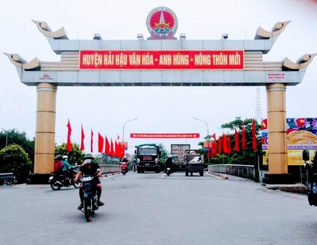 Trung tâm huyện nông thôn mới Hải Hậu.