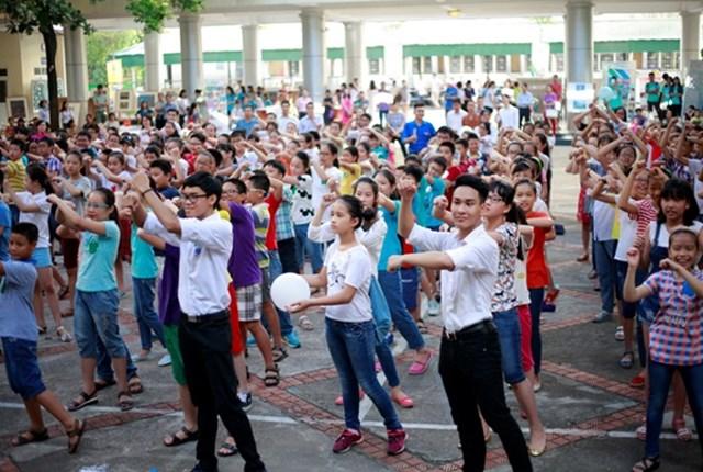 Học sinh lớp 6 trường Nguyễn Tất Thành.
