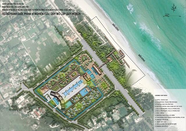 Bản vẽ tổng mặt bằng không gian kiến trúc cảnh quan dự án Khu dịch vụ - du lịch Gio Hải