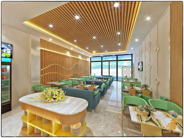 Phòng chờ Thương gia tại Côn Đảo ứng dụng phong cách kiến trúc hiện đại.