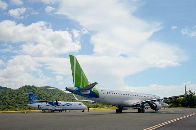 Từ tháng 9/2020, Bamboo Airways đã khai trương 3 đường bay thẳng từ Hà Nội, Hải Phòng và Vinh tới Côn Đảo.