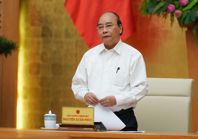 Thủ tướng trong cuộc họp. Ảnh: VGP/Quang Hiếu