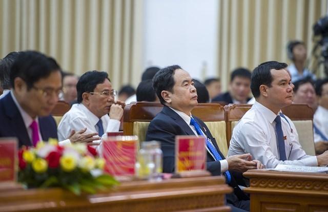 Bí thư Trung ương Đảng, Chủ tịch UBTƯ MTTQ Việt Nam Trần Thanh Mẫn và lãnh đạo nhiều Ban, bộ ngành dự Đại hội.