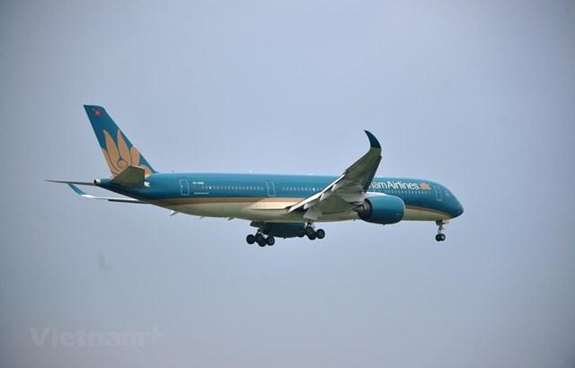 Máy bay của hãng hàng không Vietnam Airlines. (Ảnh: CTV/Vietnam+).