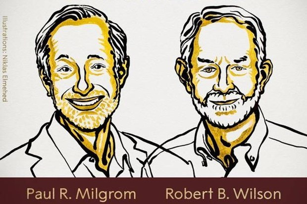 Hai nhà kinh tế Mỹ Paul. R.Milgrom và Robert B.Winson. (Nguồn: thehindu.com).