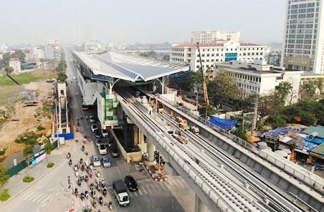 Dự án đường sắt đô thị Nhổn - ga Hà Nội do UBND TP.Hà Nội làm chủ đầu tư, được khởi công đầu tiên Việt nam nhưng đến nay vẫn chưa biết ngày về đích. (Ảnh: CAND).