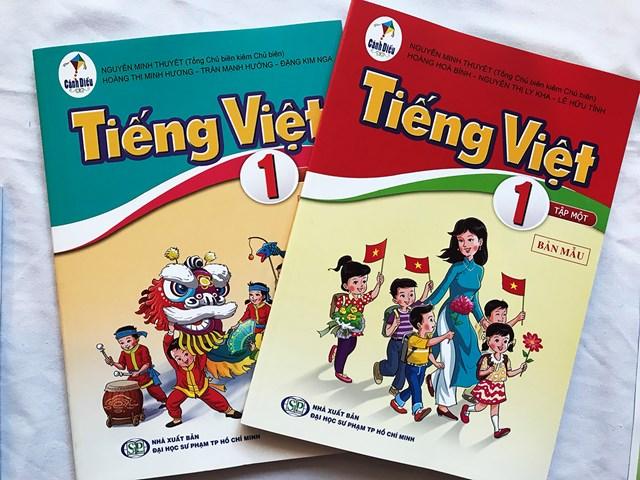 Sách giáo khoa Tiếng Việt 1 phải sửa chữa.