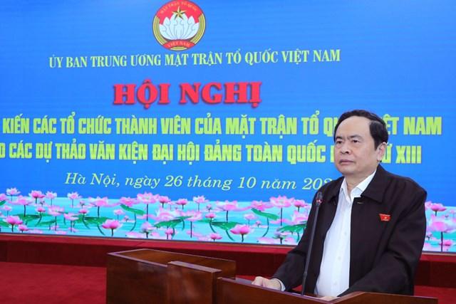 Bí thư Trung ương Đảng, Chủ tịch UBTƯ MTTQ Việt NamTrần Thanh Mẫn.