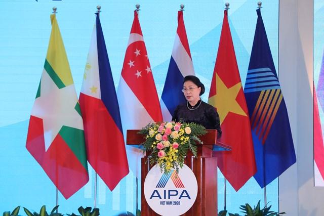 Chủ tịch Quốc hội Nguyễn Thị Kim Ngân, Chủ tịch AIPA 41 phát biểu bế mạc