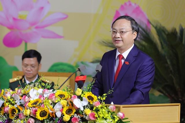 Ông Đỗ Tiến Sỹ, Bí thư tỉnh ủy Hưng Yên phát biểu khai mạc Đại hội- Ảnh: Quang Vinh