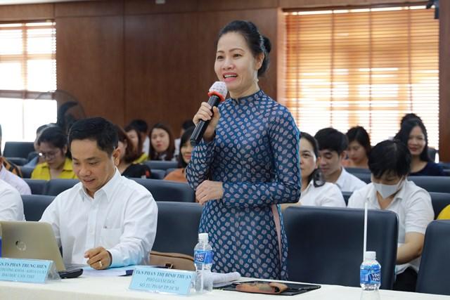 Bà Phan Thị Bình Thuận hiện là đại biểu Quốc hội khóa XIV, Phó Giám đốc Sở Tư pháp TP HCM.
