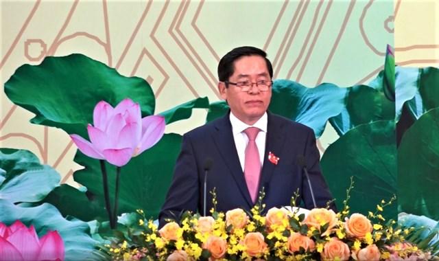 Ông Phạm Viết Thanh, Ủy viên Trung ương Đảng, Bí thư Tỉnh ủy phát biểu khai mạc ĐH