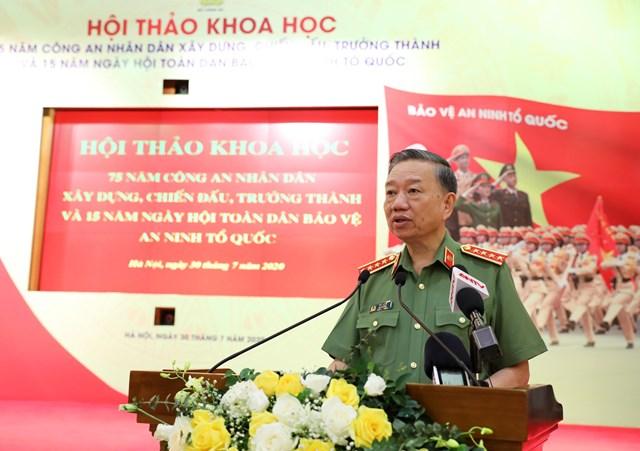 Bộ trưởng Tô Lâm phát biểu tại Hội thảo.