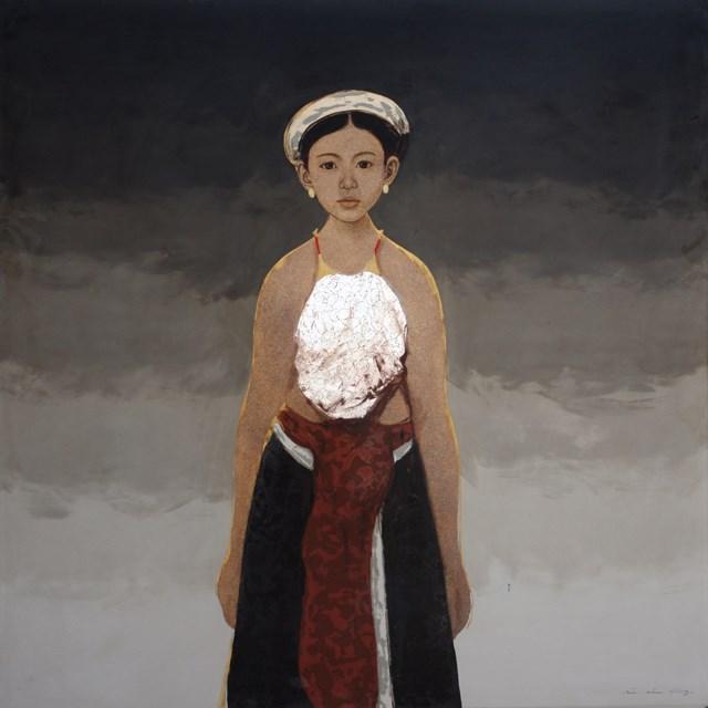 Tác phẩm Em Xoan của họa sĩ Bùi Hữu Hùng.