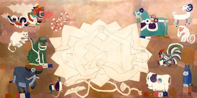 Tác phẩm Tuổi đời của họa sĩ Đặng Xuân Hòa.