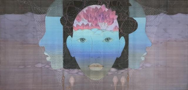 Tác phẩm Mây tam diện của họa sĩ Vũ Đình Tuấn.