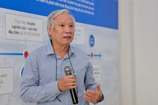 PGS.TS Nguyễn Văn Huy, Giám đốc chuyên môn Trung tâm Di sản các nhà khoa học Việt Nam.