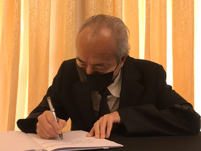 Ông Huỳnh Đảm, nguyên Chủ tịch Ủy ban TƯ MTTQVN viết lời xúc động tiễn biệt đồng chí Lê Khả Phiêu.