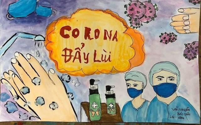 Thi vẽ tranh về đại dịch Covid-19 - Ảnh 1