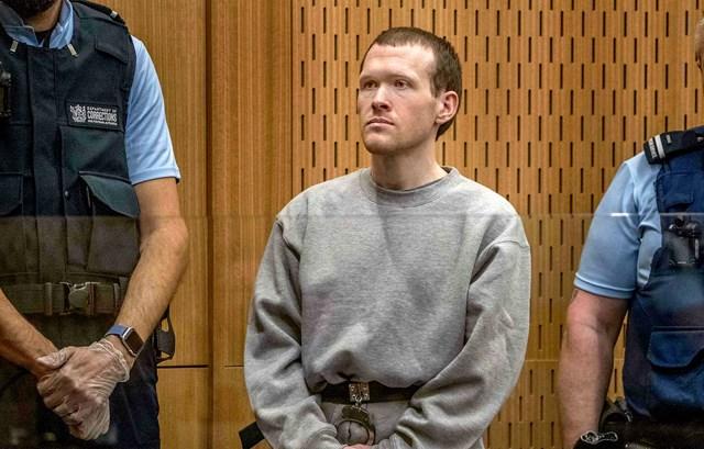 Thủ phạm Brenton Tarrant tại tòa. Nguồn: NBC News.