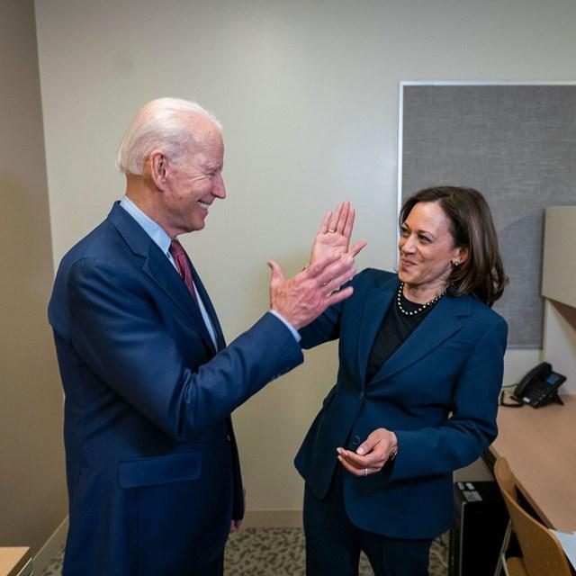 """Cặp đôi"" Joe Biden - Kamala Harris."