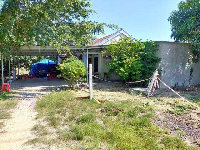 Ngôi nhà nơi xảy ra vụ án mạng nghiêm trọng trên.