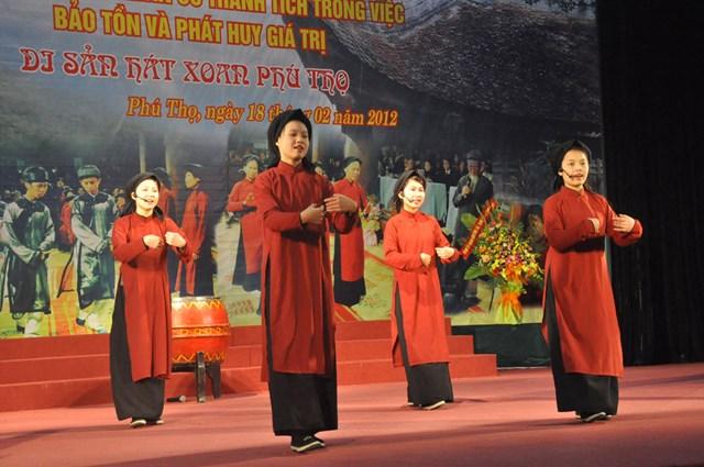 Hát Xoan ở Phú Thọ là di sản của nhân loại.