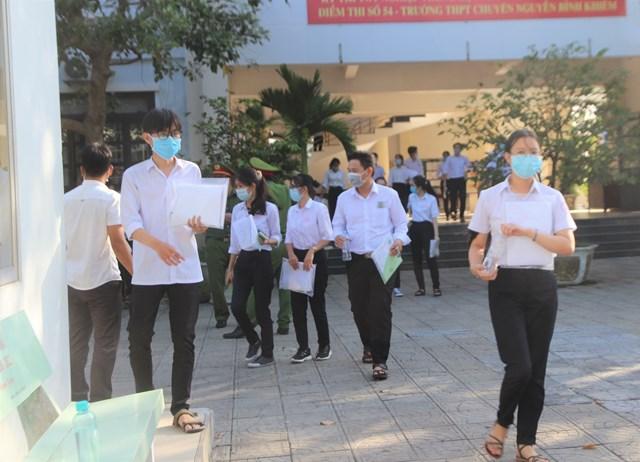 Các thí sinh ở Quảng Nam đã hoàn thành xong môn Toán.