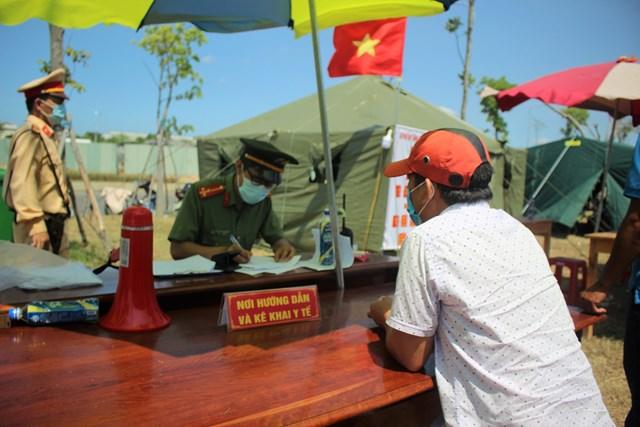 Một điểm chốt chặn kiểm tra y tế tại vùng biên giới của Quảng Nam trước đây.