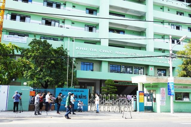 Bệnh viện Đà Nẵng được dỡ bỏ phong tỏa vào chiều 25/8.Ảnh: Thanh Tùng.