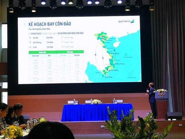 Bamboo Airways công bố triển khai 3 đường bay từ Hà Nội, Vinh, Hải Phòng đến Côn Đảo.