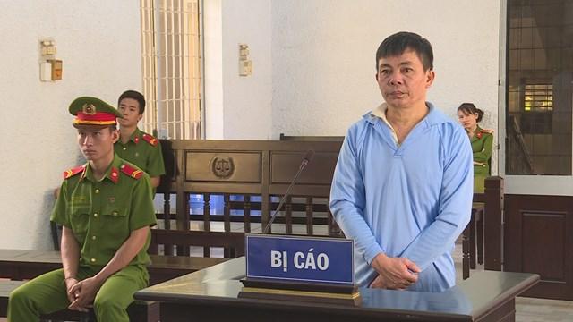 Bị cáo Lê Minh Ân tại phiên tòa.