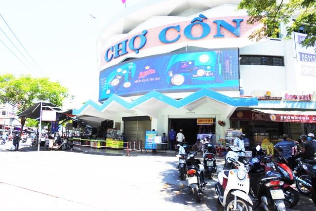 Trung tâm thương mại Chợ Cồn hoạt động trở lại sau 1 tháng 14 ngày đóng cửa phòng, chống dịch. Ảnh: Thanh Tùng.