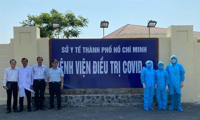 Đến 13.9, TP HCM đã chữa khỏi và cho xuất viện các bệnh nhân mắc bệnh Covid-19 cuối cùng. (Ảnh: Sở Y tế TP HCM).