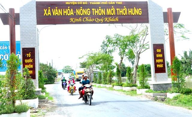 Diện mạo xã nông thôn mới Thới Hưng thay đổi từng ngày.