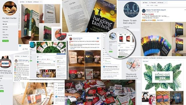 Một số fanpage bán sách giả.