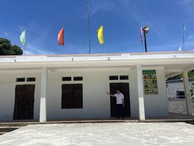Nhà văn hóa xóm Rổng Cấn (xã Lâm Sơn, huyện Lương Sơn, tỉnh Hòa Bình).
