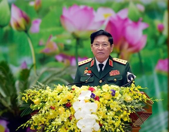 Đại tướng Ngô Xuân Lịch phát biểu.
