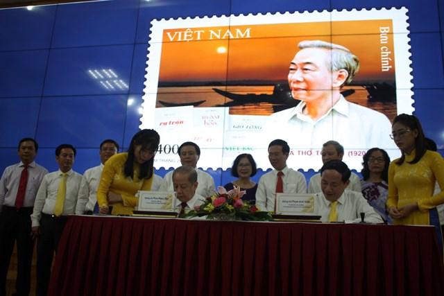 Bộ Thông tin và Truyền thông phối hợp với UBND Thừa Thiên-Huế phát hành đặc biệt bộ tem bưu chính kỷ niệm 100 năm ngày sinh Tố Hữu.